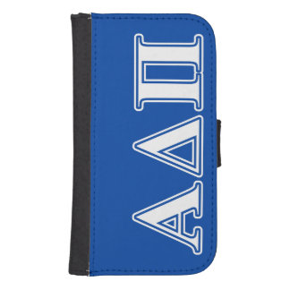 Alpha Delta Pi Light Blue and White Letters Samsung S4 Wallet Case