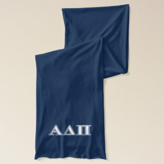 Alpha Delta Pi Light Blue and White Letters Scarf