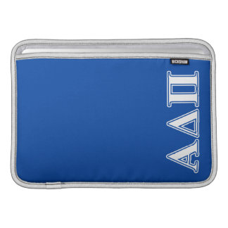 Alpha Delta Pi Light Blue and White Letters Sleeve For MacBook Air