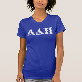 Alpha Delta Pi Light Blue and White Letters T-Shirt
