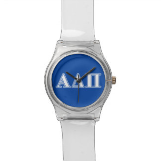 Alpha Delta Pi Light Blue and White Letters Watch