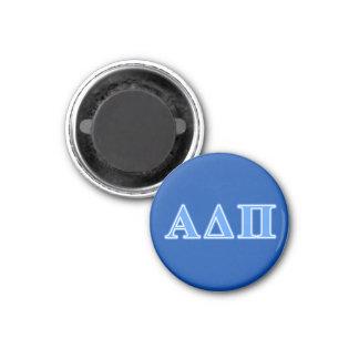 Alpha Delta Pi Light Blue Letters 3 Cm Round Magnet