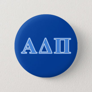 Alpha Delta Pi Light Blue Letters 6 Cm Round Badge