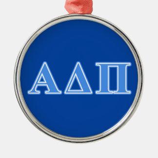 Alpha Delta Pi Light Blue Letters Christmas Ornament