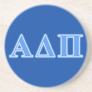 Alpha Delta Pi Light Blue Letters Coaster