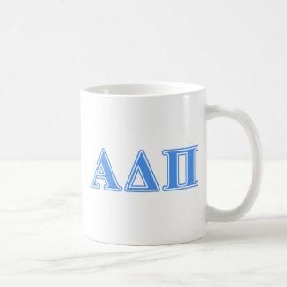 Alpha Delta Pi Light Blue Letters Coffee Mug