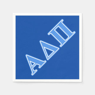 Alpha Delta Pi Light Blue Letters Disposable Napkins