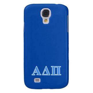 Alpha Delta Pi Light Blue Letters Galaxy S4 Case