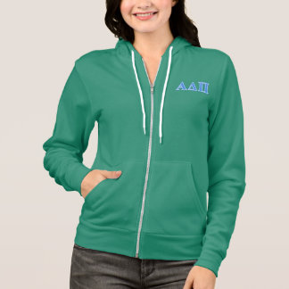 Alpha Delta Pi Light Blue Letters Hoodie
