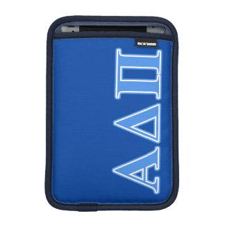 Alpha Delta Pi Light Blue Letters iPad Mini Sleeve