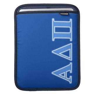 Alpha Delta Pi Light Blue Letters iPad Sleeve