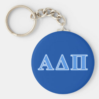 Alpha Delta Pi Light Blue Letters Key Ring