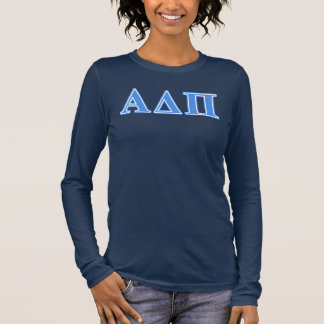 Alpha Delta Pi Light Blue Letters Long Sleeve T-Shirt