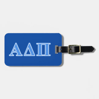 Alpha Delta Pi Light Blue Letters Luggage Tag