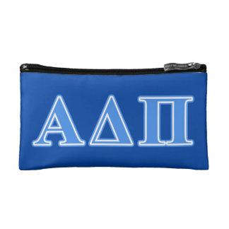 Alpha Delta Pi Light Blue Letters Makeup Bag
