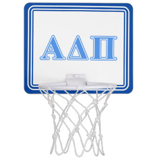 Alpha Delta Pi Light Blue Letters Mini Basketball Hoop