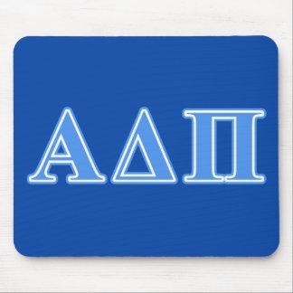 Alpha Delta Pi Light Blue Letters Mouse Mat