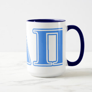 Alpha Delta Pi Light Blue Letters Mug