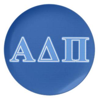 Alpha Delta Pi Light Blue Letters Plate