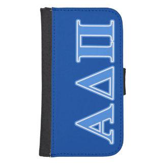 Alpha Delta Pi Light Blue Letters Samsung S4 Wallet Case