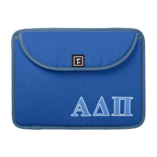 Alpha Delta Pi Light Blue Letters Sleeve For MacBook Pro