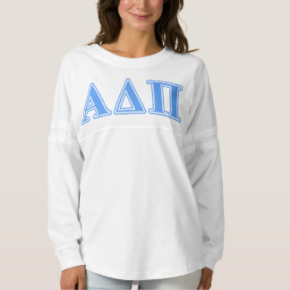 Alpha Delta Pi Light Blue Letters Spirit Jersey