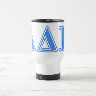 Alpha Delta Pi Light Blue Letters Travel Mug