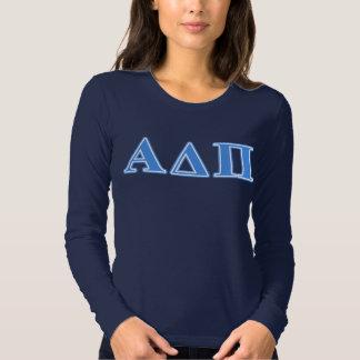 Alpha Delta Pi Light Blue Letters Tshirts