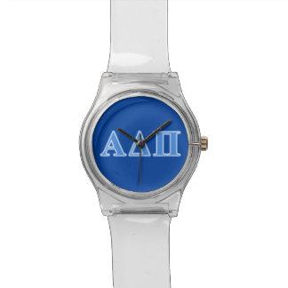 Alpha Delta Pi Light Blue Letters Watch