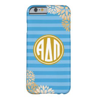 Alpha Delta Pi | Monogram Stripe Pattern Barely There iPhone 6 Case