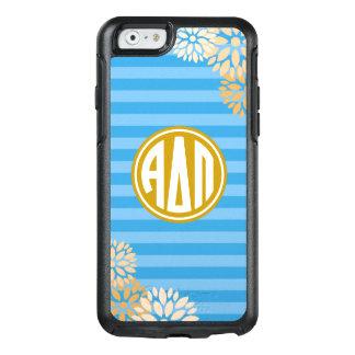 Alpha Delta Pi | Monogram Stripe Pattern OtterBox iPhone 6/6s Case