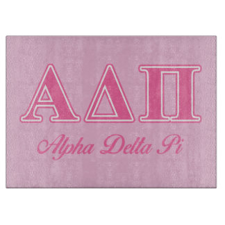 Alpha Delta Pi Pink Letters Cutting Board
