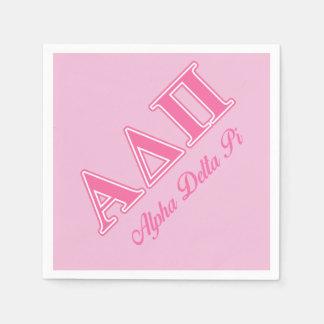 Alpha Delta Pi Pink Letters Disposable Napkins