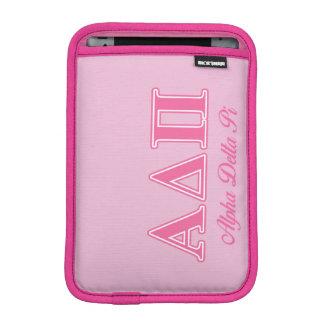Alpha Delta Pi Pink Letters iPad Mini Sleeve