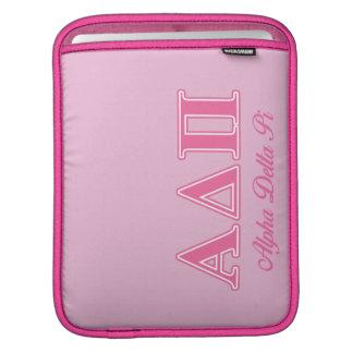 Alpha Delta Pi Pink Letters iPad Sleeve