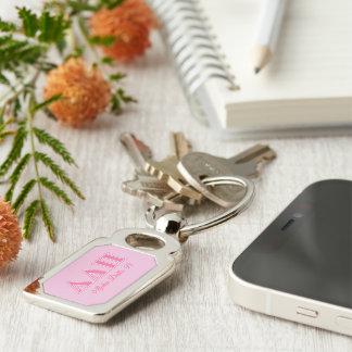 Alpha Delta Pi Pink Letters Key Ring
