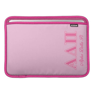 Alpha Delta Pi Pink Letters MacBook Sleeve