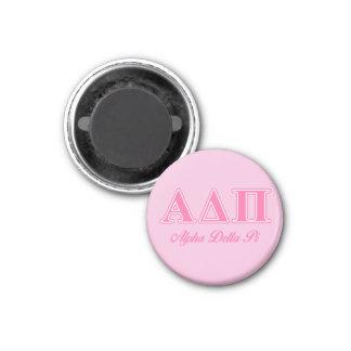 Alpha Delta Pi Pink Letters Magnet