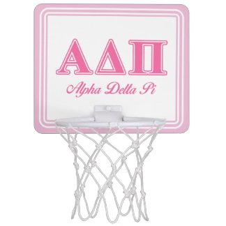 Alpha Delta Pi Pink Letters Mini Basketball Hoop