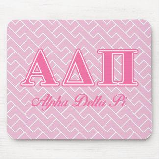 Alpha Delta Pi Pink Letters Mouse Mat