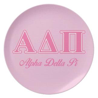 Alpha Delta Pi Pink Letters Plate