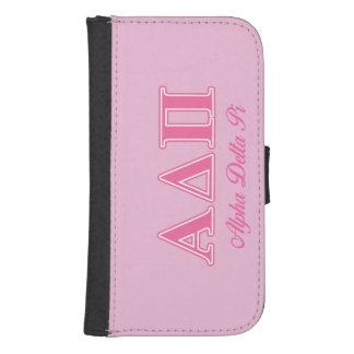 Alpha Delta Pi Pink Letters Samsung S4 Wallet Case