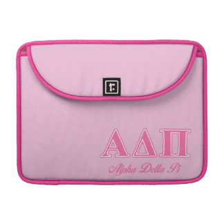 Alpha Delta Pi Pink Letters Sleeve For MacBooks