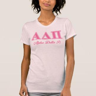 Alpha Delta Pi Pink Letters T-Shirt