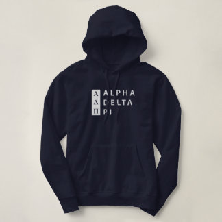 Alpha Delta Pi | Stacked Logo Hoodie