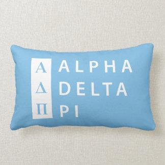 Alpha Delta Pi   Stacked Logo Lumbar Cushion