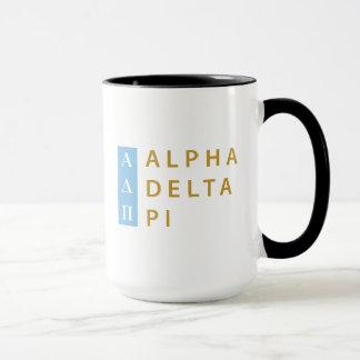 Alpha Delta Pi   Stacked Logo Mug