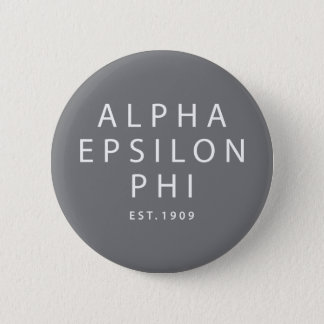 Alpha Epsilon Phi | Est. 1909 6 Cm Round Badge