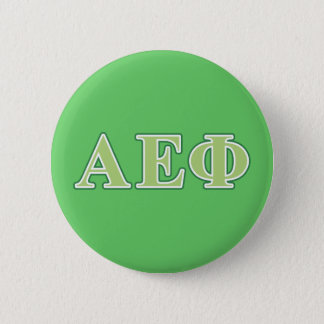 Alpha Epsilon Phi Green Letters 2 6 Cm Round Badge