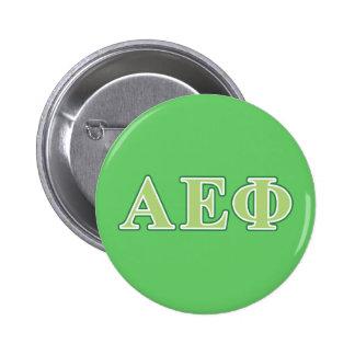 Alpha Epsilon Phi Green Letters 2 6 Cm Round Badge